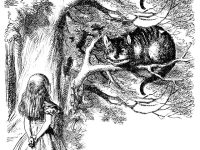 "IMAGE: ""Would you tell me, please, which way I ought to go from here?"" ""That depends a good deal on where you want to get to,"" said the Cat. ""I don't much care where --"" said Alice. ""Then it doesn't matter which way you go,"" said the Cat. ""-- so long as I get somewhere,"" Alice added as an explanation. ""Oh, you're sure to do that,"" said the Cat, ""if you only walk long enough."""