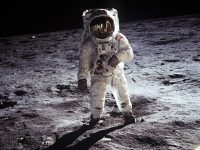 IMAGE: That's one small step for (a) man, (but) one giant leap for mankind.