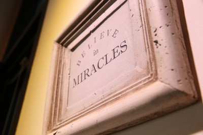 IMAGE: Miracles happen to those who believe in them.