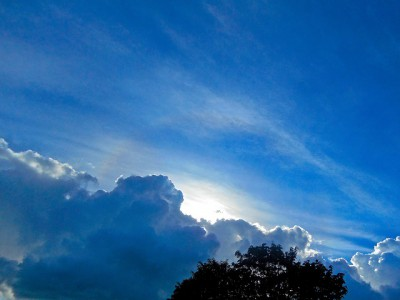 IMAGE: Because the sky is blue, / It makes me cry, / Because the sky is blue. //