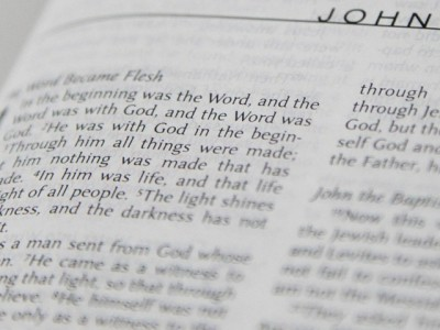 IMAGE: In the beginning was the Word, and the Word was with God, and the Word was God.