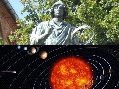 """IMAGE: Finally we shall place the Sun himself at the center of the Universe. All this is suggested by the systematic procession of events and the harmony of the whole Universe, if only we face the facts, as they say, """"with both eyes open."""""""