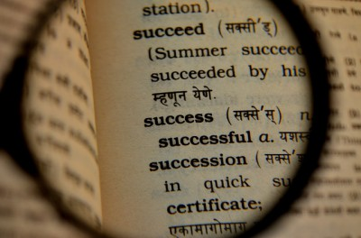 IMAGE: The only place where success comes before work is in a dictionary.