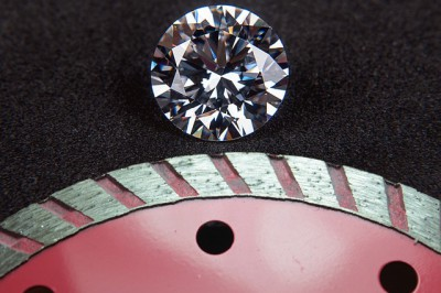 IMAGE: Diamond cuts diamond.