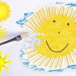 太陽を黄色い染みに…