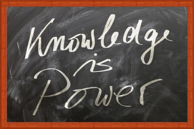 IMAGE: Knowledge is power.