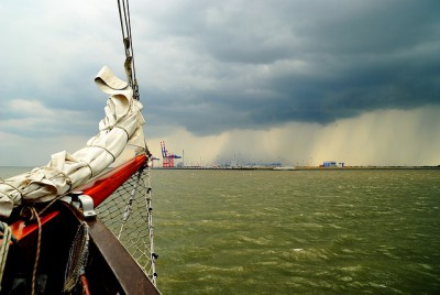 IMAGE: Any port in a storm.