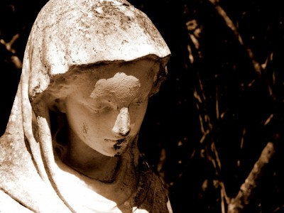 IMAGE: When I find myself in times of trouble, / Mother Mary comes to me, / Speaking words of wisdom, / Let it be. //