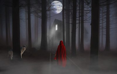 IMAGE: When the wolf comes in at the door, love creeps out of the window.