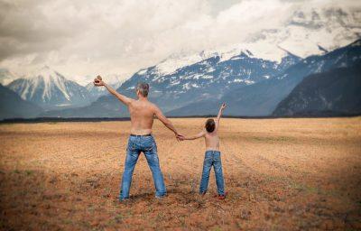IMAGE: Like father, like son.