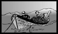 IMAGE: The net of the sleeper catches fish.
