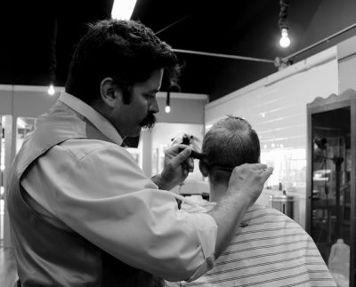 IMAGE: Don't ask the barber whether you need a haircut. / Never ask a barber if you need a haircut. [Never ask a barber if he thinks you need a haircut.]