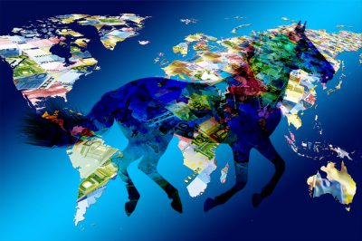 IMAGE: Money makes the mare go. [Money makes the mare to go.] / Money makes the world go round.