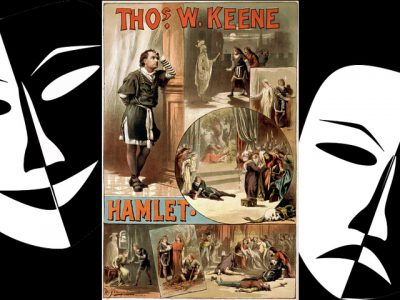 IMAGE: The play's the thing / Wherein I'll catch the conscience of the king. //