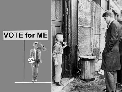 IMAGE: A politician thinks of the next election -- a statesman, of the next generation.