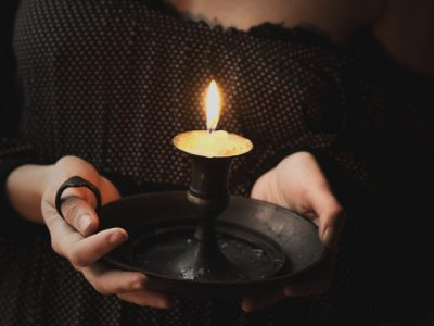 IMAGE: At the foot of the candle it is dark. / The darkest place is under the candlestick.