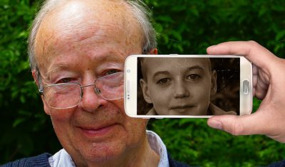 IMAGE: Old men are twice children.