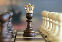 IMAGE: Once the game is over, the king and the pawn go back in the same box.