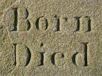 IMAGE: The first breath is the beginning of death. / As soon as man is born he begins to die. / No birth without death.
