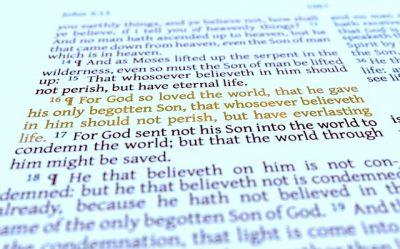 IMAGE: For God did not send his Son into the world to condemn the world, but in order that the world might be saved through him. Whoever believes in him is not condemned, but whoever does not believe is condemned already, because he has not believed in the name of the only Son of God. And this is the judgment: the light has come into the world, and people loved the darkness rather than the light because their works were evil. For everyone who does wicked things hates the light and does not come to the light, lest his works should be exposed. But whoever does what is true comes to the light, so that it may be clearly seen that his works have been carried out in God.