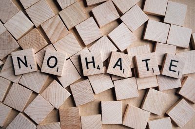 IMAGE: Hate, it has caused a lot of problems in the world, but has not solved one yet.