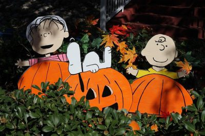 "IMAGE: Linus Van Pelt: ""I think you're afraid to be happy, Charlie Brown"" ""Don't you think happiness would be good for you?"" / Charlie Brown: ""I don't know..."" ""What are the side effects?"" //"